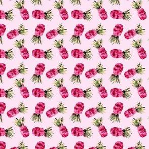 Pink pineapples mini, watercolor