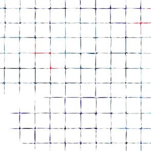 Grunge Grid in Red & Blue
