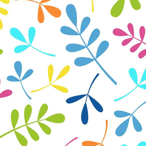 Assorted Leaves Pattern Multicolored