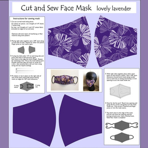 Cut and sew face mask lovely lavender
