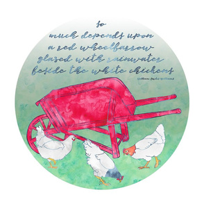 Red Wheelbarrow & White Chickens