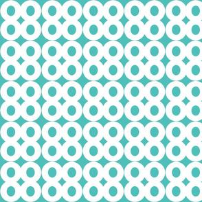 Turquoise Infinity Circles