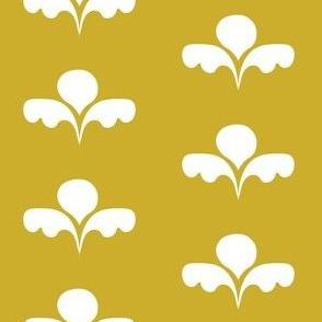 Funny Floral on Goldenrod