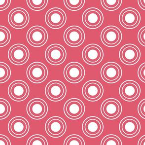 Coral Pink Bullseye