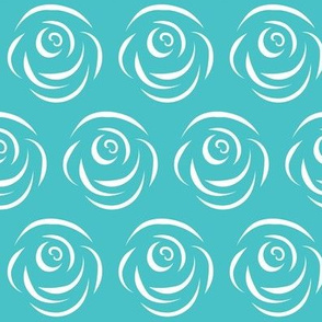 Rose on Turquoise Field