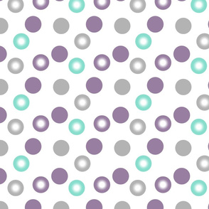 purple and teal dots