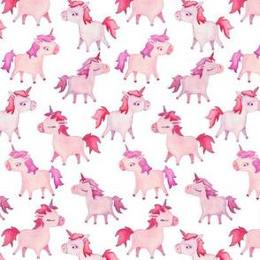 watercolor unicorn - small