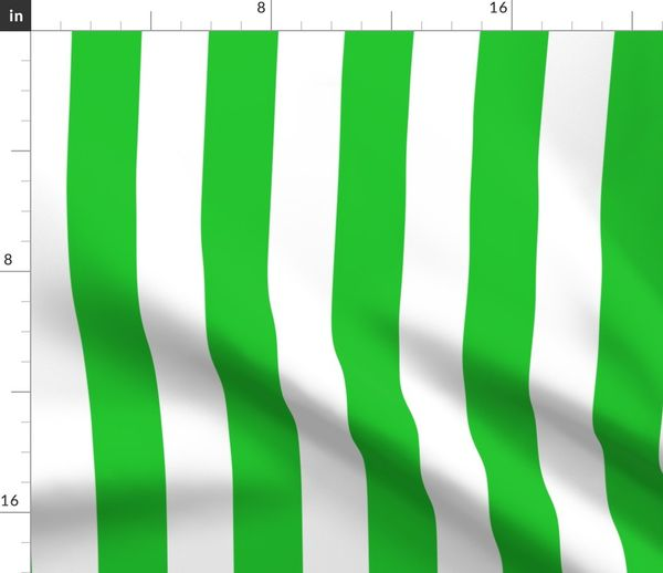 Fabric By The Yard Green And White Stripe