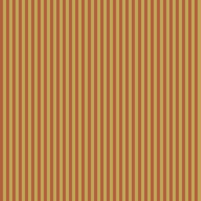 narrow rust and wheat stripes