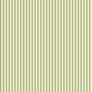 narrow sage and cream stripes