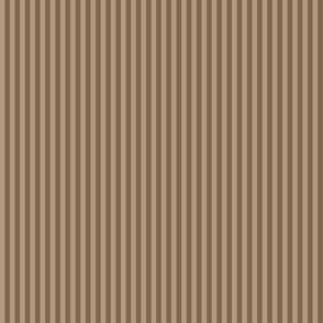 narrow stripes in mocha brown