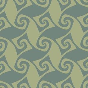 spiral trellis - sage and green slate