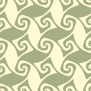spiral trellis in sagebrush and linen