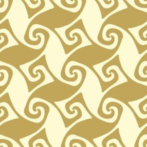 spiral trellis - linen and wheat