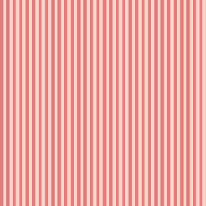 skinny stripes - coral and pink