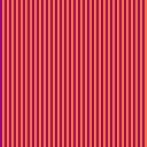 skinny stripes - bright purple and India orange