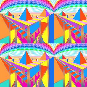 Brightly Colored Great Pyramids - Blythe Ayne
