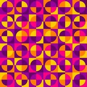 Karmic quarter-circle squares