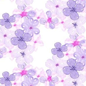 Watercolor violet pansy floral lilac pink purple_Miss Chiff Designs