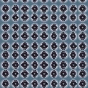 Fluttering Blue Grey Criss Cross