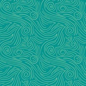 Sweet Swirl - Retro Teal