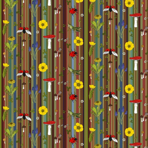 Meadow on retro stripe