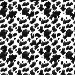 Faux Cow Hide, Blackest Black
