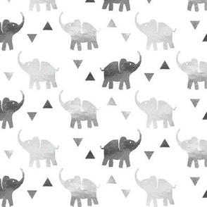 Elephants & Triangles - Silver - Small Scale