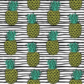 pineapple fabric // pineapples fruit fruits summer tropical design by andrea lauren - stripes