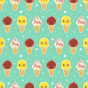 Ice Cream Pattern - Smaller Print