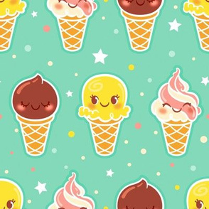 Ice Cream Pattern - Larger print
