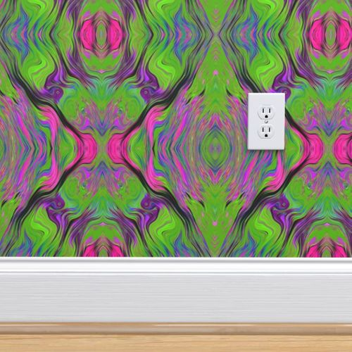 Wallpaper Lava Lamp Green Lime Violet Fuchsia Pink Xl Fusion 1