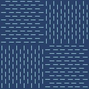 XL faux sashiko weave on navy