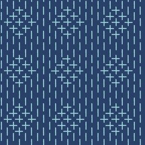 XL faux sashiko diamond stripe