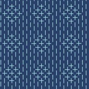 XL faux sashiko diamond stripe