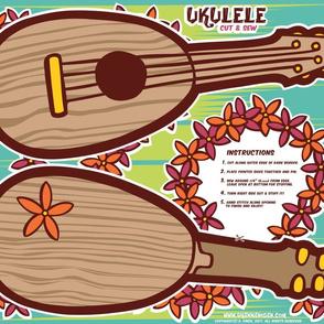 Oily Aloha - Ukulele - Cut & Sew - Coral