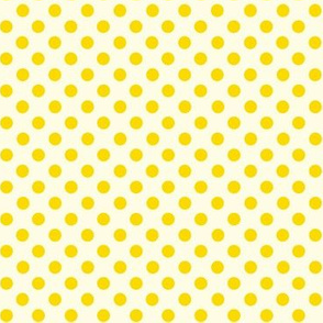 Dolly Dots Yellow Large Offwhite