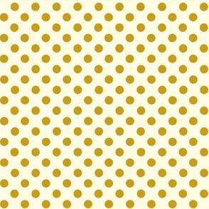 Dolly Dots Ochre Large Offwhite
