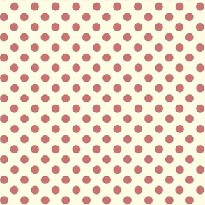 Dolly Dots Old Pink Large Offwhite