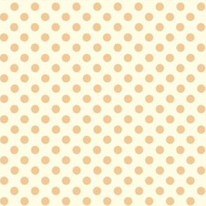 Dolly Dots Light Peach Large Offwhite