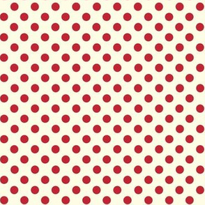Dolly Dots Red Large Offwhite