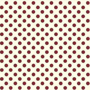 Dolly Dots Plum Large Offwhite