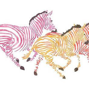 Running Orange Zebras