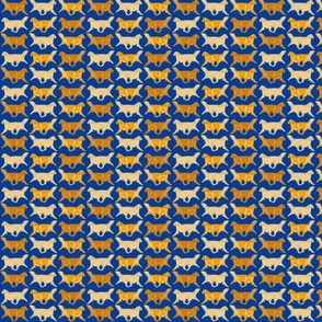 Trotting Golden Retriever border blue - small