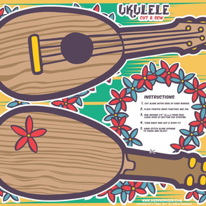 Oily Aloha - Ukulele - Cut & Sew - Yellow