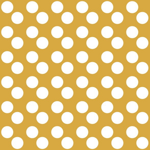 Gold + White Polka Dots