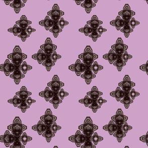 Flutter Black on Deep Lilac