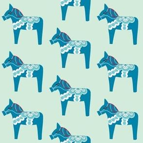 Blue Dala on blue
