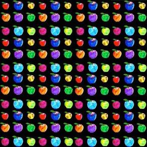 Mini Apples on Black
