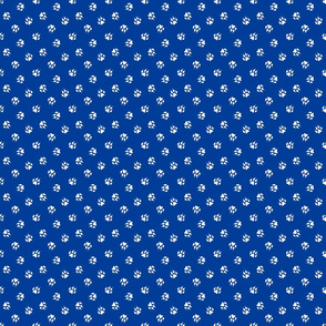 Trotting paw prints coordinate - patriotic blue